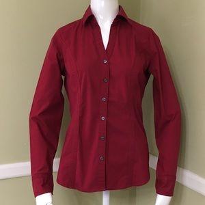 Express Essential Shirt Original Berry Red Stretch
